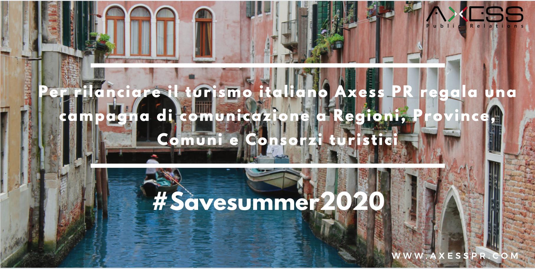 Affari Italiani.it – Turismo internazionale in Italia: già persi quasi 10 miliardi di Euro e 35 milioni di visitatori. Axess PR lancia la campagna#savesummer2020