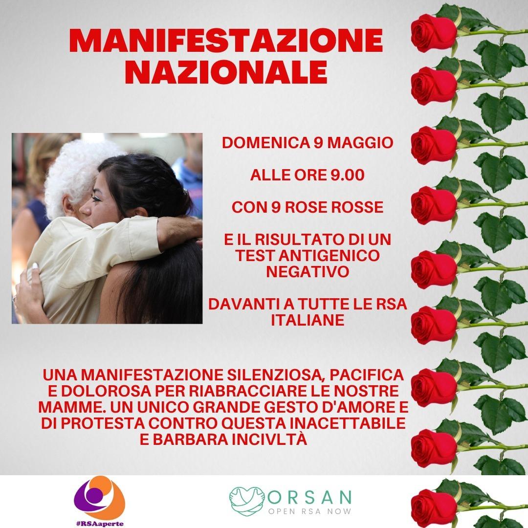 """Comitato ORSAN e Comitato #RSAaperte: """"Le visite nelle RSA italiane siano consentite già da oggi solo con esito negativo tampone naso-faringeo rapido"""""""