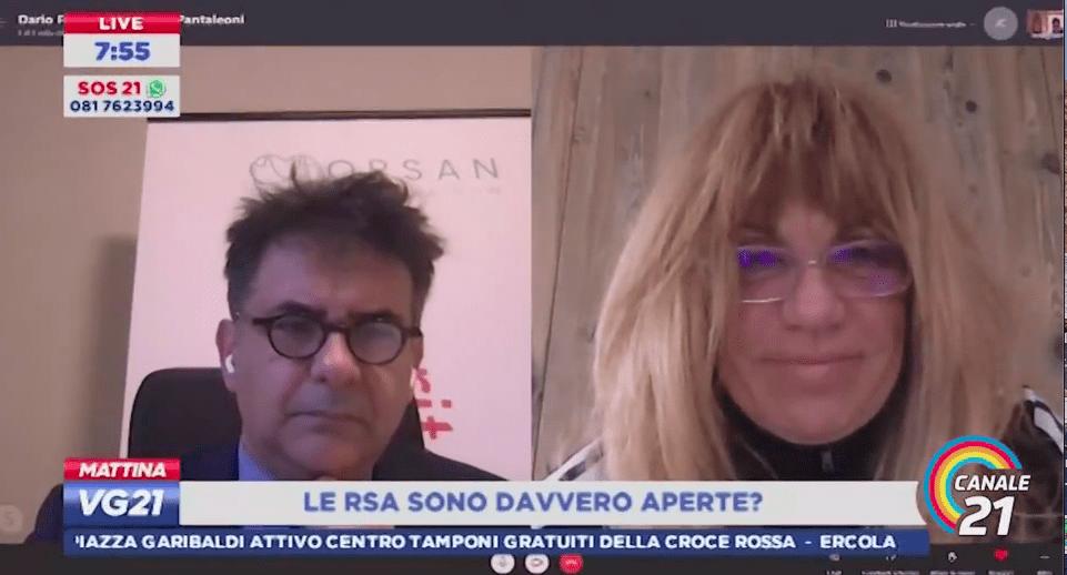 Canale 21 – L'intervento in trasmissione di Dario Francolino, presidente di ORSAN – Open RSA Now