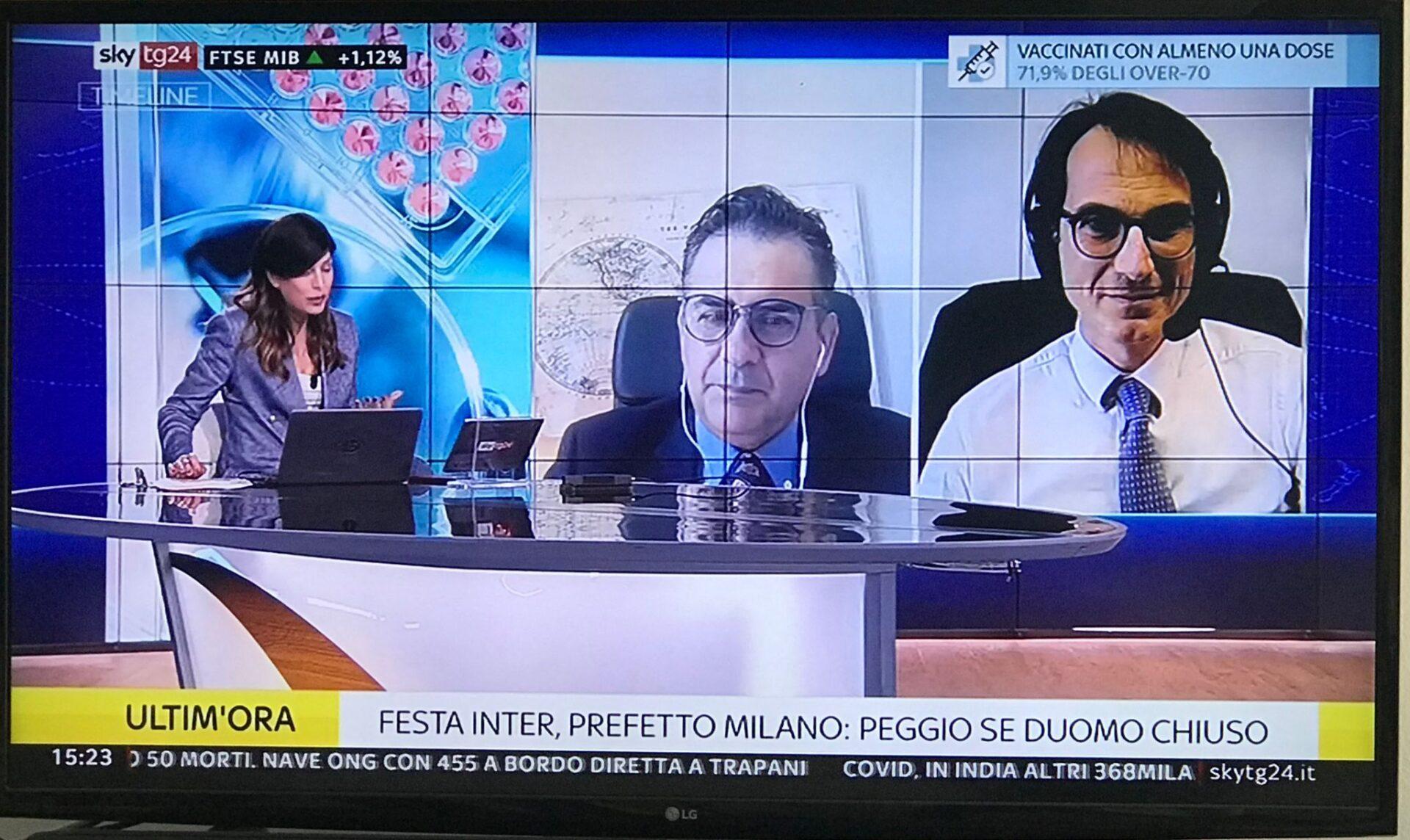 Timeline_Sky – Dario Francolino, presidente ORSAN partecipa alla trasmissione condotta da Stefania Pinna